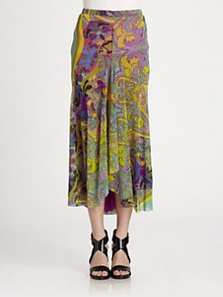 Fuzzi - Fit-and-Flare Print Maxi Skirt
