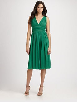 Fuzzi - Ruched Tulle Dress