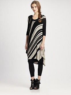 Fuzzi - Diagonal-Stripe Knit Dress