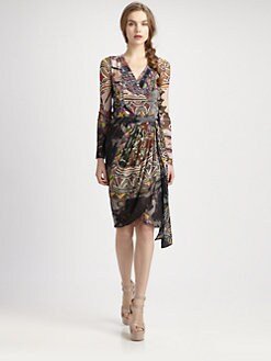 Fuzzi - Abstract-Print Wrap Dress