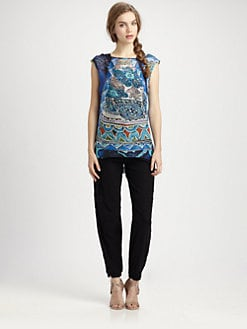 Fuzzi - Silk Abstract-PrintTop
