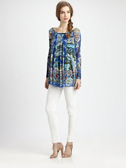 Fuzzi - Abstract-Print Swing Top
