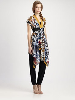 Fuzzi - Abstract-Print Belted Vest