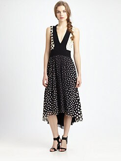 Fuzzi - Polka-Dot Hi-Lo Dress