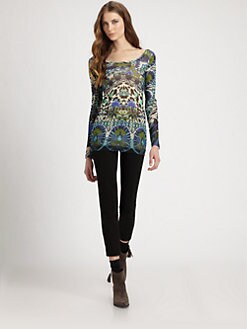 Fuzzi - Printed Knit Top