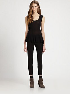 Fuzzi - Sleeveless Peplum Top