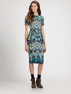 Fuzzi - Printed Peplum Dress