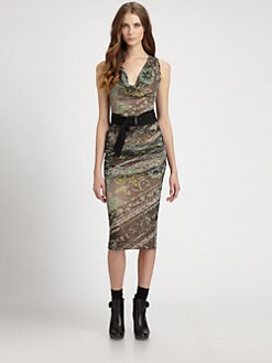 Fuzzi - Sleeveless Belted Dress