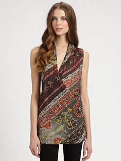 Fuzzi - Sleeveless Printed Top