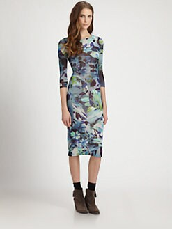 Fuzzi - Printed Boatneck Dress