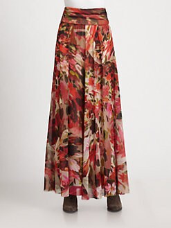 Fuzzi - Floral-Print Maxi Skirt/Dress