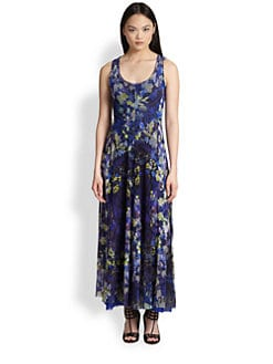 Fuzzi - Multi-Floral Print Maxi Dress