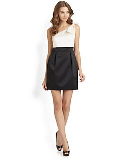 Laundry by Shelli Segal - Asymmetrical Bow Dress