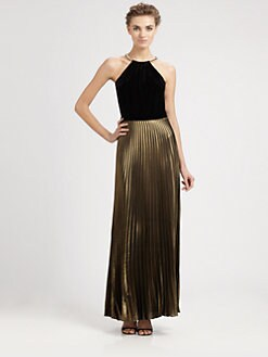 Laundry by Shelli Segal - Necklace Halter Gown