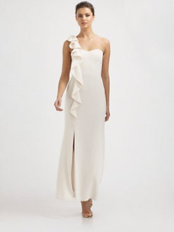 Laundry by Shelli Segal - Ruffled One-Shoulder Gown