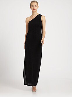 Laundry by Shelli Segal - One-Shoulder Glitzy Gown