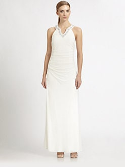 Laundry by Shelli Segal - Beaded Knit Gown