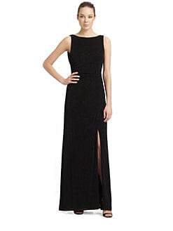 Laundry by Shelli Segal - Drape-Back Glitzy Gown