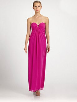 Laundry by Shelli Segal - Strapless Shirred Gown