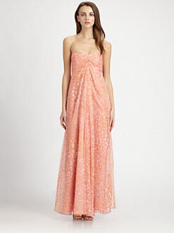 Laundry by Shelli Segal - Printed Strapless Gown