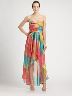 Laundry by Shelli Segal - Strapless Hi-Lo Monaco Dress