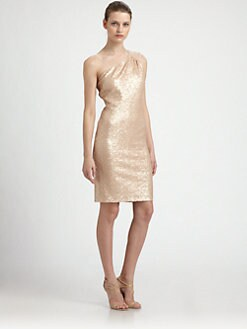 Laundry by Shelli Segal - Sequined One-Shoulder Dress