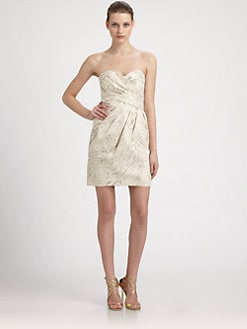 Laundry by Shelli Segal - Strapless Jacquard Dress
