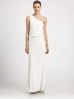Laundry by Shelli Segal - Sequined One-Shoulder Gown