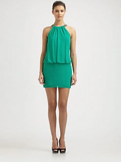Laundry by Shelli Segal - Blouson Mini Dress