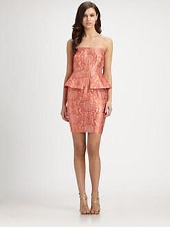 Laundry by Shelli Segal - Brocade Peplum Dress