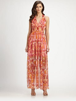 Laundry by Shelli Segal - Ikat Chiffon Maxi Dress