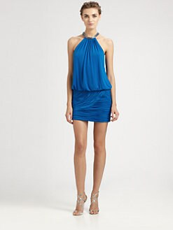 Laundry by Shelli Segal - Jeweled Halter Dress