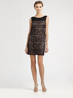 Laundry by Shelli Segal - Beaded Lace Dress