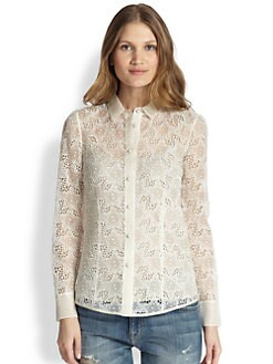 RED Valentino - Star-Embroidered Blouse