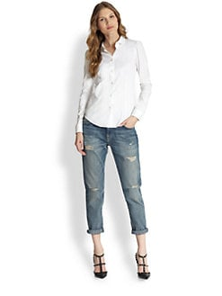 RED Valentino - Stretch Cotton Poplin Blouse