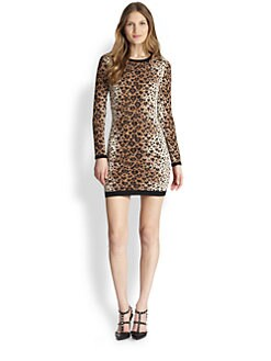 RED Valentino - Jacquard Leopard Heart-Print Dress