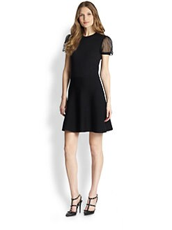 RED Valentino - Wool Horizontal-Stitch Dress