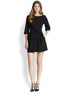 RED Valentino - Crepe Seamed Dress