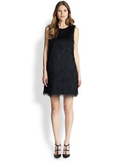 RED Valentino - Fuzzy Faille Shift Dress
