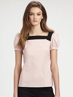 RED Valentino - Puffed-Sleeve Top