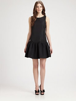 RED Valentino - Dropped-Waist Ruffled Dress