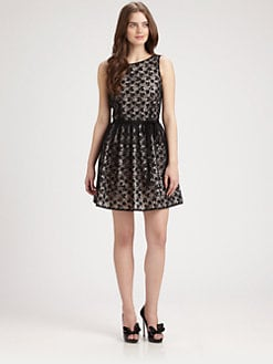 RED Valentino - Lace Overlay Dress