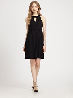 RED Valentino - Bow-Neck Knit Dress