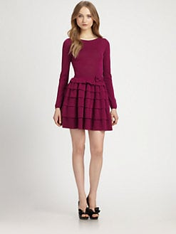 RED Valentino - Ruffled Knit Dress