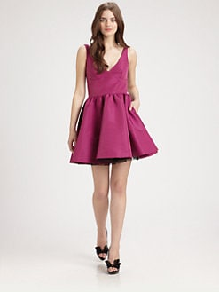 RED Valentino - Lace-Edged Full Dress