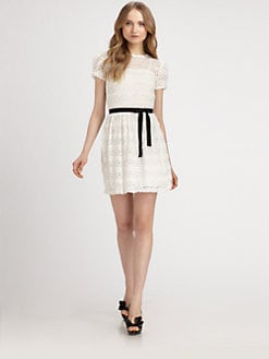 RED Valentino - Crocheted Lace Dress