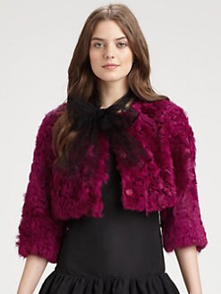 RED Valentino - Cropped Lamb Jacket