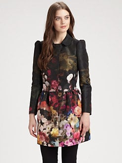 RED Valentino - Garden Print Satin Jacket