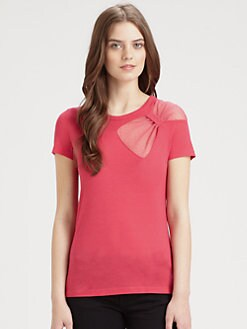 RED Valentino - Shoulder-Bow Tee