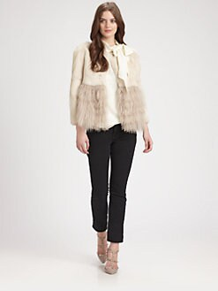 RED Valentino - Mixed Fur Short Jacket